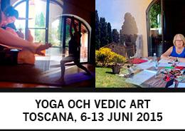 Yogaresa och Vedic Art i vackra Toscana